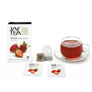 Strawberry & Raspberry - Tea Bags-Tea-JAF TEA-Tea- tea,tea gifts, gourmet tea, herbal tea, black tea, green tea, ceylon teas, sri lanka, sri lanka tea, hand packed tea, fresh tea, free tea sampler, tea assortment, tea collection, organic tea, breakfast tea, iced tea, tea bag, teabag, tea bags, teabags, specialty tea, tea infusions, tea-over-ice, ice teas, ice tea - Jaf Tea USA - Jaf Tea