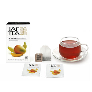 Mango & Banana - Tea Bags-Tea-JAF TEA-Tea- tea,tea gifts, gourmet tea, herbal tea, black tea, green tea, ceylon teas, sri lanka, sri lanka tea, hand packed tea, fresh tea, free tea sampler, tea assortment, tea collection, organic tea, breakfast tea, iced tea, tea bag, teabag, tea bags, teabags, specialty tea, tea infusions, tea-over-ice, ice teas, ice tea - Jaf Tea USA - Jaf Tea
