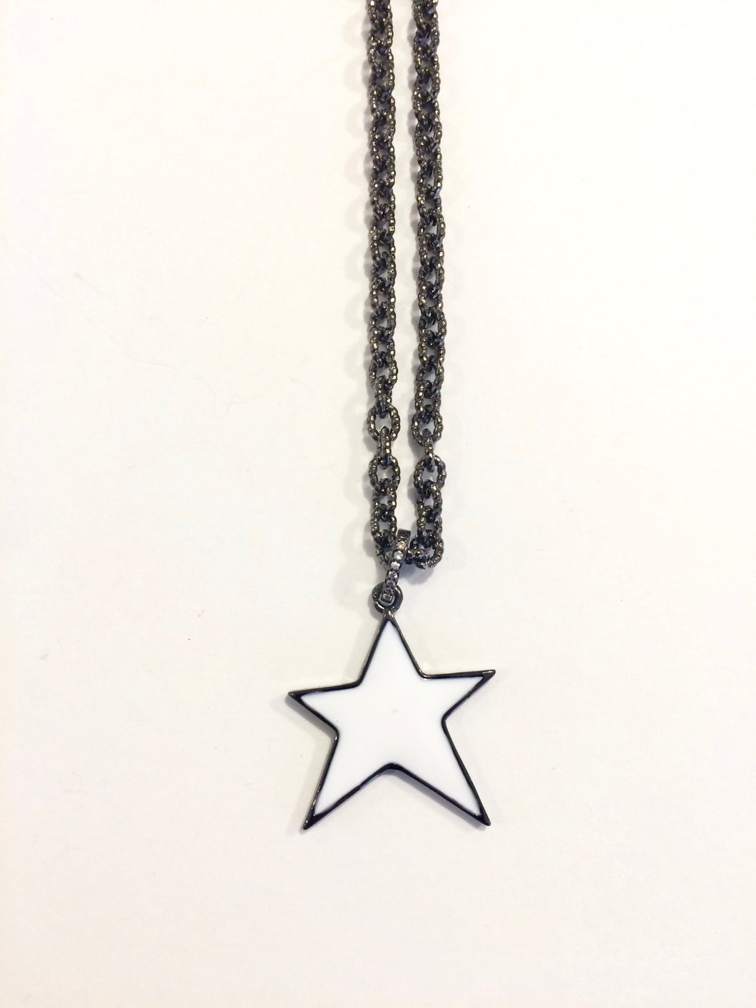 White Star Charm Necklace