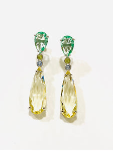 Yellow Drop Quartz Earring