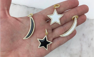Moons and Star Charm