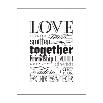 Love Together Forever Print
