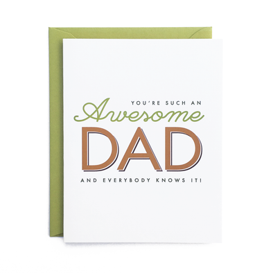 Awesome Dad Card