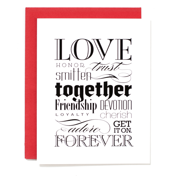 Love Together Forever Card
