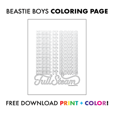 Beastie Boys Coloring Page - Keep It Going!