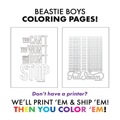 Beastie Boys Coloring Pages - WE PRINT!