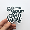 Go Your Own Way Sticker