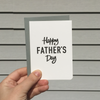 Happy Father's Day B&W Card