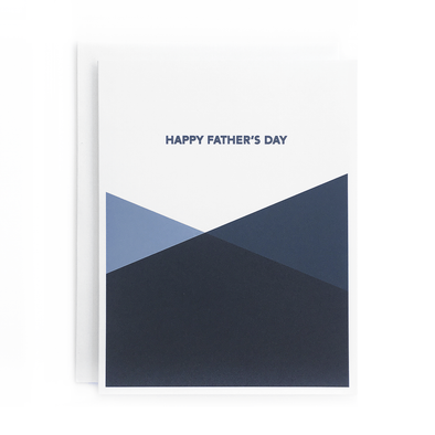 Happy Father's Day Blue Geo Card