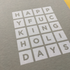 Happy F*cking Holidays Card