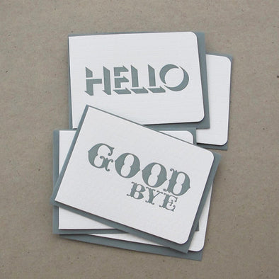 HELLO Card / GOODBYE Card