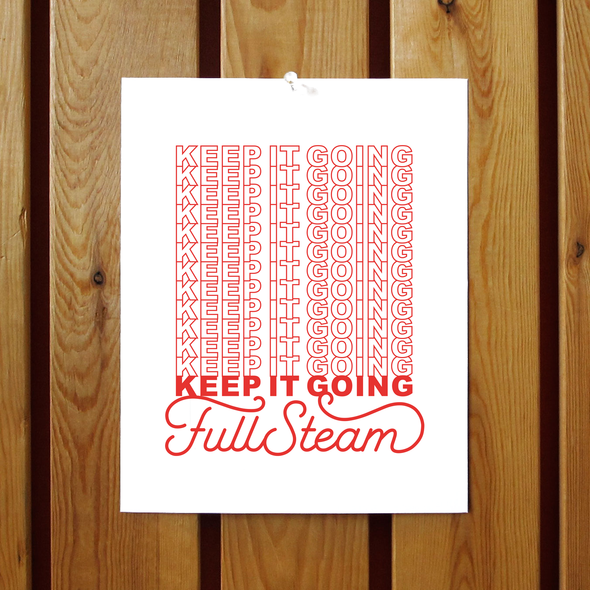 Keep It Going Full Steam / Beastie Boys Print
