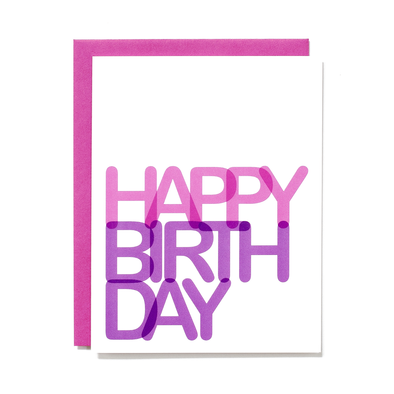 Happy Birthday Card - Pink or Blue