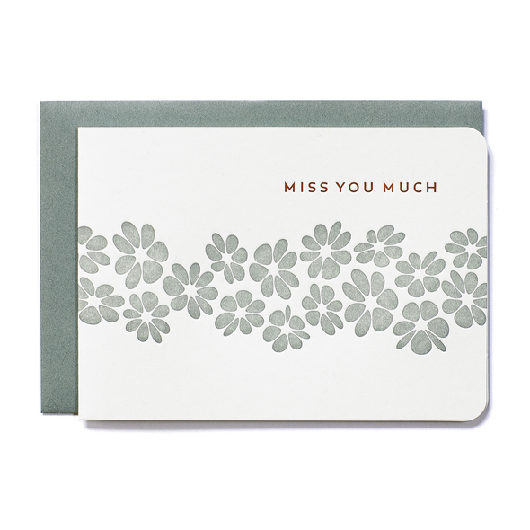 Miss You Much Card