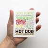 Chicago-Style Hot Dog Sticker