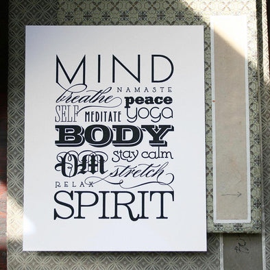 Mind Body Spirit Print