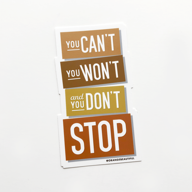You Don't Stop / Beastie Boys Sticker