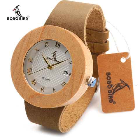 Natural Maple Wooden Watches for Men Women,,,, - HIRAM.ONLINE
