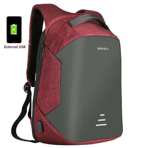 Backpack Anti Theft Backpack With Usb Charging Men - HIRAM.ONLINE