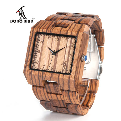 New Arrival Men Watch L24 Zebra Wooden Watch Mens Luxury Brand Design - HIRAM.ONLINE