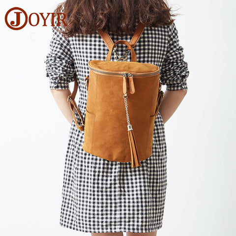 New Woman Backpack School Bags For Girls Genuine Leather Bag - HIRAM.ONLINE