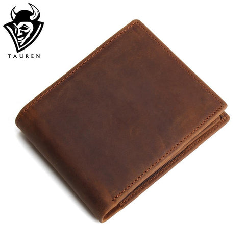 First Layer Cow Genuine Leather Wallet With Coin Pocket - HIRAM.ONLINE