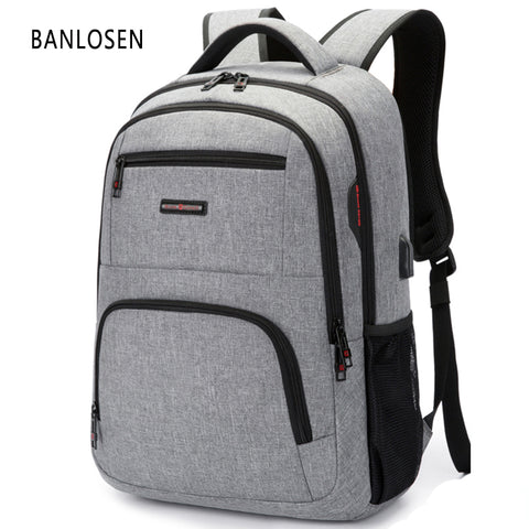 BC Brand Fashion Business Backpack for Men USB Charge Laptop Bag Backpacks 1 - HIRAM.ONLINE