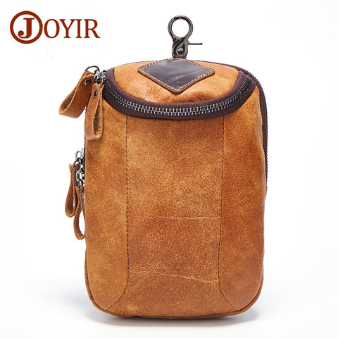 Men Casual Small Genuine Leather Shoulder Bags Leather Travel Bag - HIRAM.ONLINE