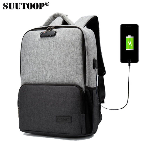New Anti Theft Waterproof USB Charging Laptop For Men - HIRAM.ONLINE
