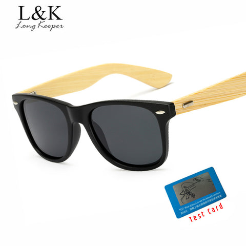 Long Keeper Mens Polarized Bamboo Sunglasses with Polarized Lenses,,,,,, - HIRAM.ONLINE