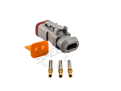 DEUTSCH DT Series connector, DT06-2S, Cavities: 2, Contact Size: 16, Current Rating: 1