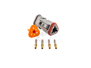 DEUTSCH DT Series connector, DT06-3S, Cavities: 3, Contact Size: 16, Current Rating: 13