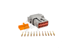 DEUTSCH DTM Series connector, DTM04-12P, Cavities: 12, Contact Size: 20, Current Rating: 7.5