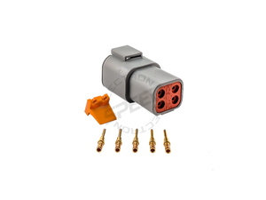 DEUTSCH DTP Series connector, DTP04-4P, Cavities: 4, Contact Size: 16, Current Rating: 13