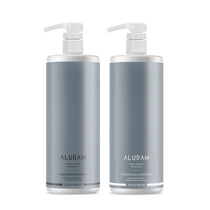 ALURAM Moisturizing Shampoo and Conditioner Liter Duo