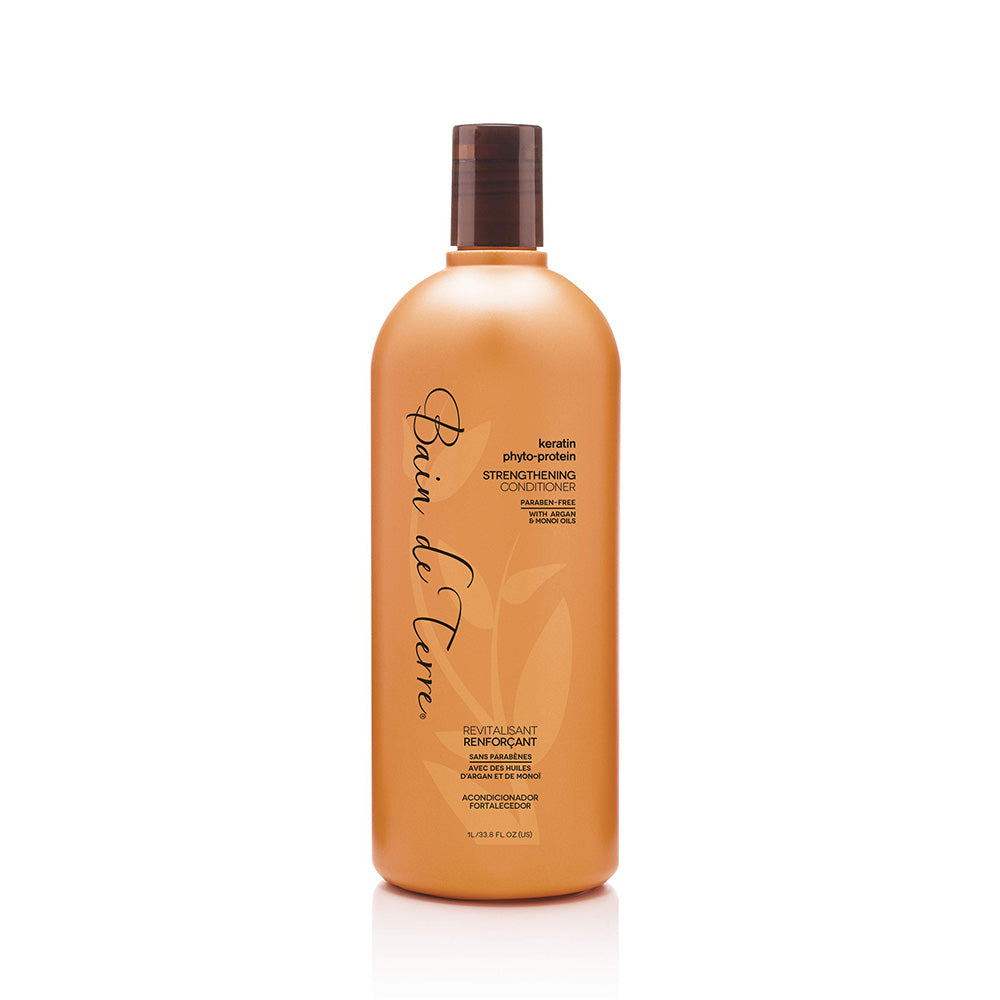 BAIN DE TERRE Keratin Phyto-Protein Strengthening Sulfate-Free Conditioner (Litre) - TBBS