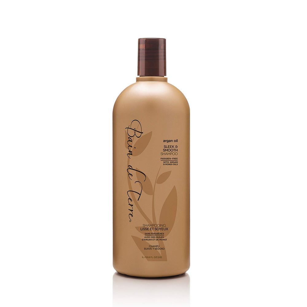 BAIN DE TERRE Argan Oil Sleek & Smooth Shampoo (Litre) - TBBS