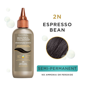 CLAIROL Beautiful Collection Advanced Gray Solutions Hair Color - Level 2 - Espresso Bean 2N