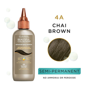 CLAIROL Beautiful Collection Advanced Gray Solutions Hair Color - Level 4 - Chai Brown 4A
