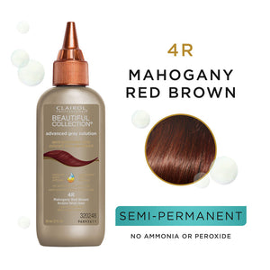 CLAIROL Beautiful Collection Advanced Gray Solutions Hair Color - Level 4 - Mahogany Red Brown 4R