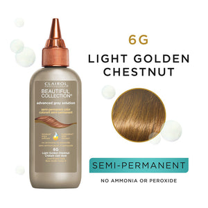 CLAIROL Beautiful Collection Advanced Gray Solutions Hair Color - Level 6 - Light Golden Chestnut 6G