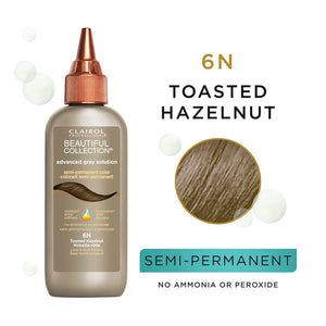 CLAIROL Beautiful Collection Advanced Gray Solutions Hair Color - Level 6 - Toasted Hazelnut 6N
