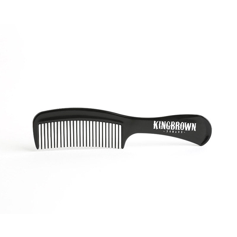 KING BROWN Black Handle Comb - TBBS