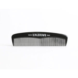 KING BROWN Black Pocket Comb - TBBS