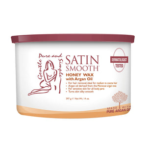 SATIN SMOOTH Honey & Argan oil Organic Wax (14oz)