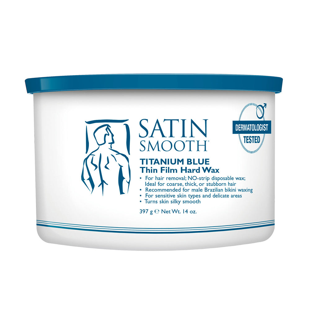 SATIN SMOOTH Titanium Blue Thin Film Hard Wax (14oz)