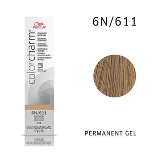 WELLA Color Charm Permanent Gel Color Dark Blonde 611