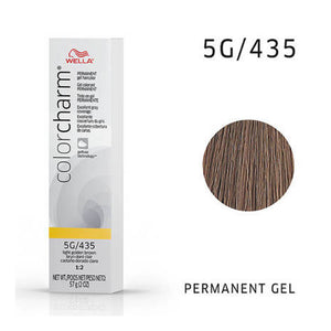WELLA Color Charm Permanent Gel Color Light Golden Brown 435