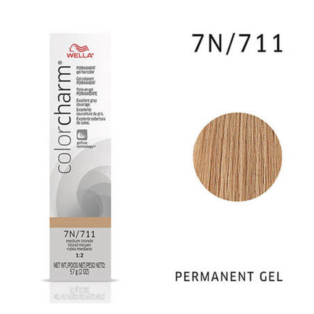 WELLA Color Charm Permanent Gel Color Medium Blonde 711