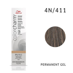 WELLA Color Charm Permanent Gel Color Medium Brown 411